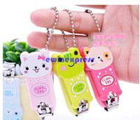Wholesale New Nail Clippers Fashion Colorful Cute Cartoon Nail Finger Clipper Scissor w Key Chain Cutter Kid