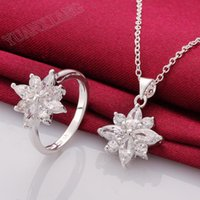 Wholesale fashion jewelry sterling silver necklace piece petal