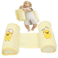 Wholesale 100 Cotton Baby Toddler Safe Cotton Anti Roll Pillow Top Quality Shaping Pillows Sleep Head Positioner