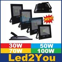 Wholesale 10W W W W W W Led Floodlights Outdoor Led Waterproof Floodlights SMD5730 Led Spot Flood Lights Wall Lamp AC V