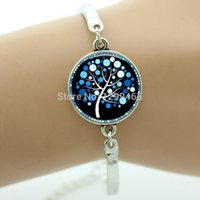 art quality bangle - Promotion Top quality vintage glass cabochon dome art picture bracelet bangles Life tree charm silver bracelet for women OY