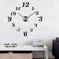 Wholesale Luxury Wall Clock Living Room DIY D Home Decoration Mirror Large Art Design