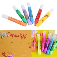 puffy paint - Popcorn Paint Pen Puffy Embellish Decorate Bubble Graffiti DIY Stationery Good Gift for Children Via DHL