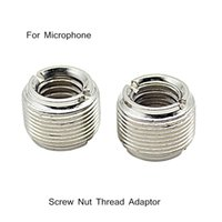 Wholesale 2pcs set Microphone Mic Screw Nut Thread Adaptor quot to quot Connector Cupronickel Material Retail order lt no track