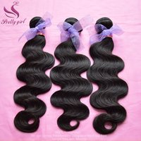 Wholesale Unprocessed A Virgin Brazilian Peruvian Malaysian Indian Cambodian Human Hair Weave Body Wave Bundles Soft Full Extensions Dyeable