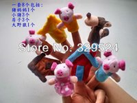baby pigs sale - ON SALE The Fairy Tale Finger Puppets quot The Three Little Pigs quot Baby Toys For Kids