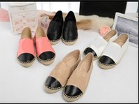 leather soles for shoes - 2015 Brand Designer Upgrade Thick Soles Genuine Leather Hemp Rope Soled Espadrilles Flats Shoes Loafers For Women shoe Color