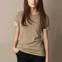 brand clothes cheap - New Luxury Designer Women s Cotton T Shirts Famous Brand Ladies Fashion Summer Tee Shirts Casual Classic T Shirt Cheap Clothes