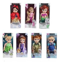animator doll - Bonecas Fairy Toys Inches Princess Sofia Dolls Frozen System Styles New Year Gift Animators Juguetes Princesas