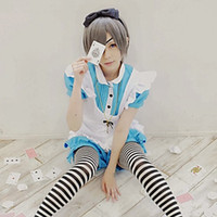 Wholesale Black Butler Ciel Phantomhive Cosplay Maid Unifrom