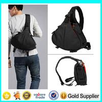 Wholesale Professional DSLR SLR Digital Sling Camera Shockproof Bag Shoulder Bag for NIKON CANON SONY Triangle Messenger Bag Outdoor Sports Backpack