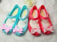 baby fragrance - 2016 New Baby Girls Princess Bow Sandals Toddler Soft Candy Color Shoes Mini Melissa Same Style Jelly Shoes Kids Sandals with fragrance