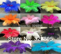 Wholesale HOT CM quot quot Choose Colors Ostrich Feather Plume wedding decoration