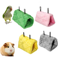 Wholesale New Arrival Parrot Bird Hamster Hammock Hanging Cave Cage House Plush Tent Bed Bunk Parrot With Buckles Warm Canary Hut Nest