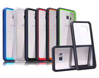 Wholesale Supcase Case Hybrid TPU Bumper Clear Transparent Hard PC Cover for iPhone S plus i6 Samsung Galaxy S6 edge plus Note
