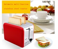 Wholesale F2016 New Listing Red Silver actory direct automatic multifunctional stainless steel bread toaster toaster for breakfast