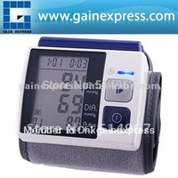 Wholesale Fully Automatic Wrist Type Blood Pressure Monitor Meter Auto Inflate Inflating Deflate Diflating Sphygmometer Sphygmomanometer