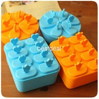 plastic lattice - Fashion modeling ice box Popsicle molds ice lolly mold popsicle box ice trays with bowl cover ice cream maker plastic ice cube lattice
