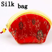 ancient chinese silk - Chinese style restoring ancient ways wing draw gift silk small change purse key pouch joyful package coin purses