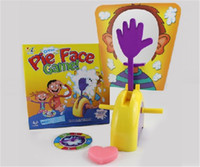 Wholesale EMS Free Korea Running Man Pie Face Game Cream On Her Face Hit The Send Machine Toy Rocket Catapult Game Consoles Paternity Novelty Fun Toy
