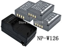 Wholesale PC V mAh Li ion NP W126 NP W126 Battery Charger for Fujifilm Fuji NP W126 NPW126 BC W126 BCW126