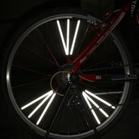 Wholesale New Designed Bicycle Bike Wheel Spoke Reflector Reflective Mount Clip Tube Warning Strip Light Parts O1W