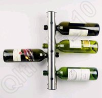 Wholesale 100PCS HHA716 Hot Sell Partical Stainless Steel Bar Wine Rack Wine Shelf Wall Mounted Holder Bottles