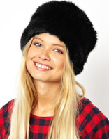 al por mayor cosaco ruso negro sombrero-La nueva manera de cosacos de Rusia Hat para WomenFaux Piel Flat Top estampado de leopardo de lujo sólido del sombrero del bombardero casquillo gorras Marrón / Blanco / Negro