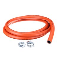 hose clip - 2 Metres High Pressure mm Gas Hose Kit With Hose Clips No Spanner Included
