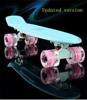 Wholesale Updated version professional small skateboarding single banana longboard adult children become warped road skate board