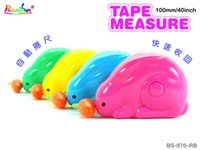 Wholesale 20pcs Cartoon Cute Rabbit Tape Measure for Cloth Green Red Blue Yellow cm inch Tap Measure