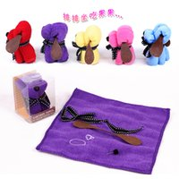 towel cake favors - Cute Wedding Favors Supplies Colors Cotton Towel Royal Blue Red Pink Purple Dog Shaped Can Take Apart Free Shiping More Pieces More Cheaper