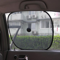 car curtains - 2pcs set Black Side Car Sun Shade Rear Window Sunshade Cover Curtain Mesh Visor Shield Screen