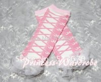 baby shoe tights - Newborn Baby Light Pink Shoes Leg Warmers Leggings with White Ruffles LG119
