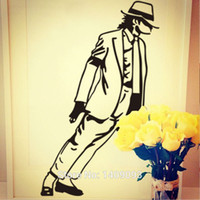 portrait background - 2015 Hot Sale Portrait Wall Decals Michael Jackson CM Background Wall Stickers Room Decoration Vinyl Mural Art