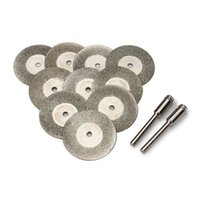 Wholesale 10pcs mm Diamond Grinding Wheel Slice with Two mm Shank Mandrels for Dremel Rotary Tool