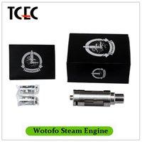 air engine design - Original Wotofo Steam Engine TC Tank Sub ohm Atomizer Top and Bottom Filling Design Liquid Air Flow Control Silver plating Copper Electrode
