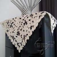 air oven - Rustic cloth embroidery dining table cloth air conditioning microwave oven cutout cover towel self shade rose
