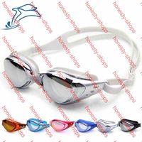Wholesale Shen Yu Genuine Plating Film Anti fog Goggles Waterproof UV Swimming goggles Diving glasses swimming pool