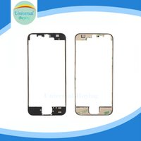 Wholesale New Arrival LCD Digitizer Frame Bezel For iPhone S with M Glue Attached Replacement Repair Parts Black and White Color DHL