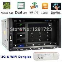 Wholesale 7 Inch G WiFi din Android Car Video player GPS Bluetooth Radio GB CPU DDR3 Capacitive Touch Screen NO DVD car pc aduio Car DVD Vid