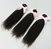Cheap Nice Molded Hair!Unprocessed Brazilian Peruvian Malaysian Indian Virgin Hair 3pcs Kinky Curly Human Hair Extensions Hair Weave 6A