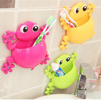 Wholesale Lovely Animal Geckos Toothbrush Wall Suction Bathroom Sets Cartoon Sucker Toothbrush Holder Suction Hooks