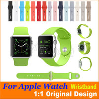 Wholesale 1 Original Design Silicone Band With Connector Adapter Clip For Apple Watch Silicon Strap For iPhone iWatch Sport Buckle Bracelet