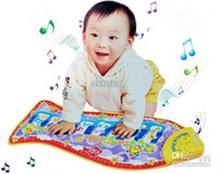 baby music games - Fashion Fish piano music game carpet Fashion Children s Educational Toys fish Music crawling mat baby toys blanket