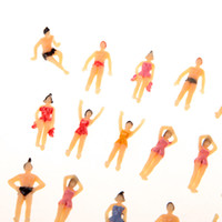 beach layout - 20pcs OO Scale Painted Model Beach People Figures Plastic Model People for layout and landscape models