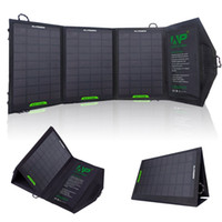 Wholesale ALLPOWERS W Portable Foldable Solar Charger Panel with iSolar Technology for iPhone plus s c s ipad mini Samsung Galaxy S6 S5 S4