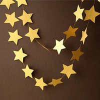 Wholesale 4m Gold Star Garlands for Windows Doorway Ceiling Decors Wedding Decoration Showers Birthday Party Decoration