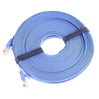 Wholesale Blue RJ45 CAT6a Cat6 Flat Ethernet Patch Network Lan Cable m C1042 DHL freeshipping