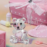 Wholesale Crystal Teddy Bear Baby Shower favor wedding party gifts baby gift present Keepsake
